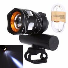 USB Rechargeable XM-L T6 LED Capacidad de Zoom Luz Frontal para Bicicleta Cabeza Con Batería