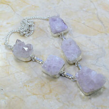 """Handmade Purple Cluster Amethyst 925 Sterling Silver Necklace 20"""" #A50021"""