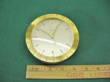 Tiffany & Co Swiss Atlas Brass Desk Clock Rare World Time West Germany Movement