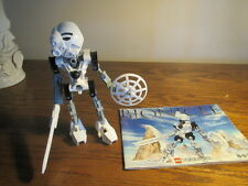 Lego Bionicle Technic 8536 Kopaka  Complete Figure + weapons + Instructions