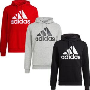Adidas Mens Hoodie Fleece Big Logo Hoody Essentials Sweatshirt Sweat Tops Cotton