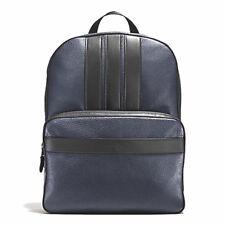 SALE ORIGINAL COACH Men's Bag Backpack Pebbled Leather Midnight Black F56667