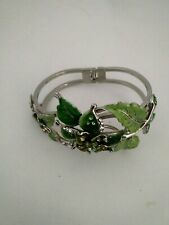 Steel and Enameled Crystal Bangle