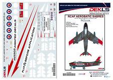 Decals Canadair Sabre - RCAF Sky Lancers Aerobatic Team Post 1956 1/48 Scale