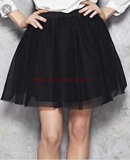NWOT Women´s Bebe Black Elegant Pleated Mini Skirt Summer Spring Easter Sz 2