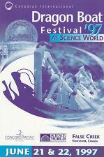 Dragon Boat Festival , Vancouver, B.C., Canada ,1997