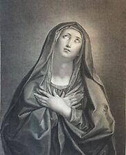 Guido Reni (d'après) La vierge Madonna par Wicar et Beisson 1789 vélin