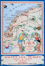 Affiche chemin de fer Etat - Le Pays de Caux