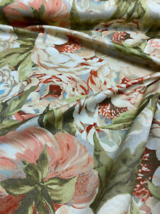 Waverly Flamingo Frolic Watermelon Linen Fabric By The Yard