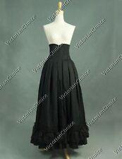 Black Victorian Edwardian Skirt Steampunk Period Cosplay Theater Wear N K035 L