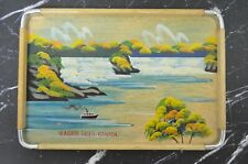 Vintage Wood Tray with Niagara Falls Canada Standard Specialty Co Japan
