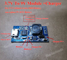 Lithium Li-ion 18650 3.7V 4.2V Battery Charger Board 9V DC Step up Boost Module