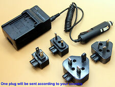 Home + Car Battery Charger For Canon CB-2LS CB-2LSE CBC-NB1 NB-1L NB-1LH
