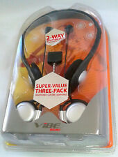 New~Vibe Bundle Value Pack Headphones 3.5 Clip Ons Earbuds, Sealed COMPLETE