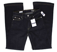 NWT Womens Size 26 in R GAP Authentic Flare Jeans Dark Wash NEW