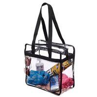 Women PVC Crystal Clear Tote Bag Handbag Shoulder Transparent Bath Wash Bag
