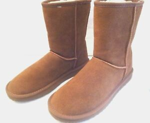 "FADED GLORY WOMEN SIZE ""9""""GENUINE SUEDE LEATHER"" ""BROWN"" LADIES MID CALF BOOTS"
