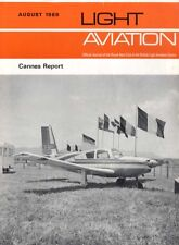 LIGHT AVIATION MAGAZINE 1969 AUG CANNES REPORT, THE ROLLS ROYCE 0-240A