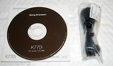 Genuine Original Sony Ericsson K770i Phone CD Software PC Suite & USB Data Cable