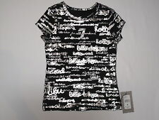 Nwt $44 T shirt 7 For All Mandkind Girl size 4 black