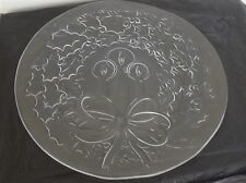LE Smith Holly Wreath & Candles Christmas Platter NEW