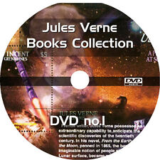 * JULES VERNE BOOKS COLLECTION  * 21+ AUDIOBOOKS on 2 DVDs * UNABRIDGED MP3 *