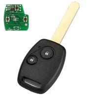2 Button Remote Fob Key Case Sheel 433MHz ID46 Chip For HONDA Jazz Civic CRV HRV