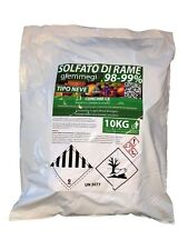 Solfato di rame Neve 98-99% - Consentito in agricoltura biologica - sacco 10 kg