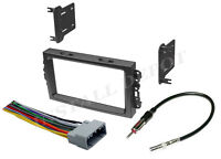 05-07 Complete Stereo Installation Dash Kit Harness Antenna Jeep Grand Cherokee