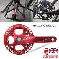 UK 32-42/104bcd MTB Road Bike Narrow Wide Chainset Crank Pedeal Chainring Guard