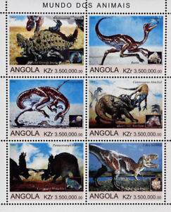 Angola 2000 -Dinosaurus,1M/Sh, MNH**,AG 44