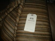 ABRAHAM MOON TAN FAWN LOVAT STRIPE 100% PURE LAMBSWOOL GOOD WEIGHT COUNTRY WEAR