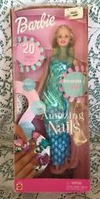 Barbie Doll AMAZING NAILS Decorate  20 Press On Stickers New in Box Retired