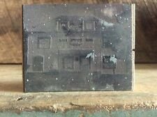 Ink Plate Type On Wood Block Victorian House ? Fraternity