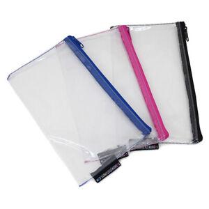 Clear Exam Small See Through Transparent Pencil Case Girls Boys - 20cm x 12cm
