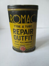 Romac tyre and tube repair outfit tin. Michelin. goodyear.Dunlop.