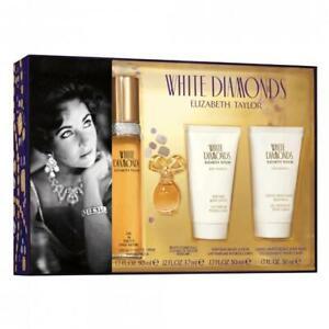 ELIZABETH TAYLOR White Diamonds 50ML 4PC SET (MINI EDP) PERFUME NEW I/B GENUINE