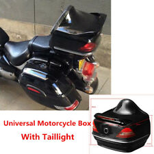 Durable Trunk Top Case Box W/ Taillight Universal For Motorcycle Truck Scooters