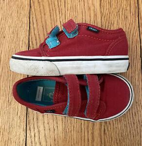 Boys Vans Red Size Toddler 6.0
