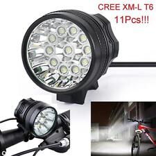 28000LM 11 x CREE XM-L T6 LED 8 x 18650 Bicycle Cycling Light Lamp Waterproof