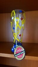 Lolita Pilsner Gotta Love Beer Glass Yellow Ribbon Hand Painted 22 oz  w/Box NEW