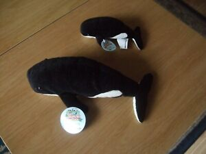 My Animal Kingdom Walter and Whitney Whale with tags issued in 2005 very gd con