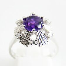 Ring Gold 585er Amethyst Diamanten Edelstein Damen Goldschmuck 14 kt.
