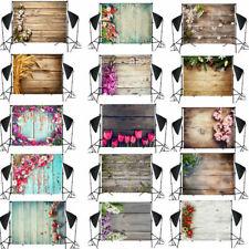 Fotostudio Hintergrundstoff Hintergrund Fotohintergrund Holzwand Blumen 1.5x2.1m