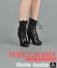 """1/6 Women Shoes Ankle Boots For 12"""" Hot Toys Phicen Female Figure SHIP FROM USA"""
