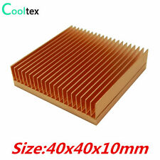 Pure Copper Heatsink 40x40x10mm Skiving Fin Heat Sink For Electronic CHIP LED IC
