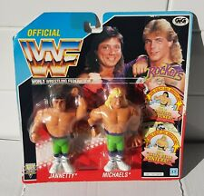 WWF WWE Hasbro Figure Rockers Shawn Michaels Marty J vintage rare on card sealed