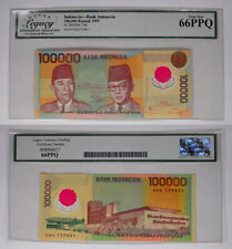 1999 LCG GEM NEW 66PPQ INDONESIA 100,000 RUPIAH NOTE P-140 ! EXCELLENT NOTE !
