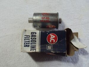 GM #5650677 AC #GF90 gas fuel filter 1962-1965 Corvette with notches on inlets