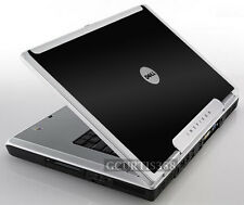 BLACK Vinyl Lid Skin Cover Decal fits Dell Inspiron E1705 9200 9300 9400 Laptop